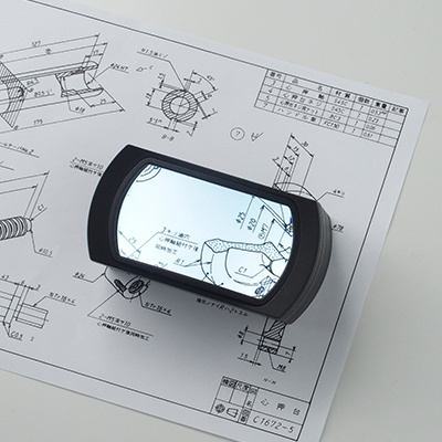 [스몰리아] USB충전식 LED확대경 돋보기 Wide LC 독서용