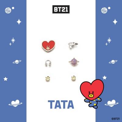 [BT21] 실버 패키지귀걸이 : 타타 OTEB19218AWW