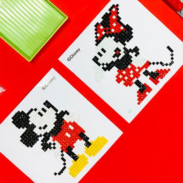 DIY 미키마우스 어린이 보석십자수 스티커형