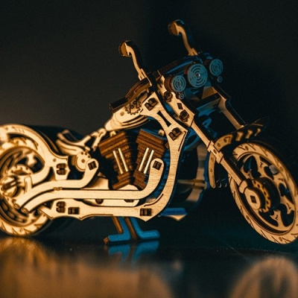 EWA 에코우드아트3D DIY 입체나무퍼즐 크루저바이크