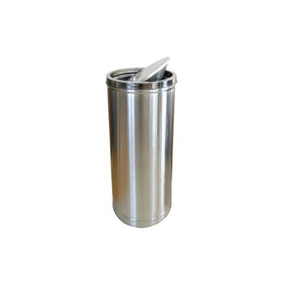 (생활용품)뺑뺑이 스텐휴지통(30L) 쓰레기통