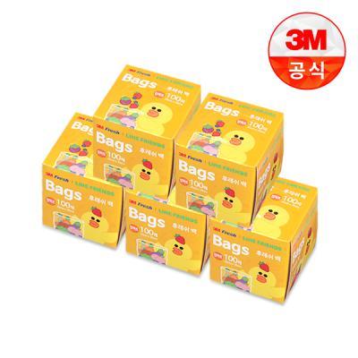 [3M]라인프렌즈 후레쉬 위생백 100매(컴팩트) 5개세트