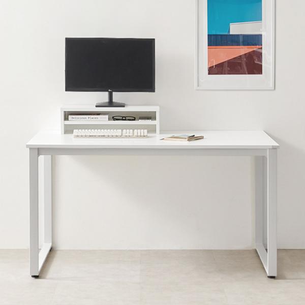 [e스마트] 1인용컴퓨터책상1260+모니터받침대증정