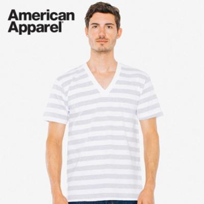 아메리칸어패럴 남녀공용 브이넥 반팔 티셔츠 6color