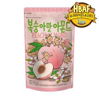 [길림양행] 복숭아맛 아몬드 210g