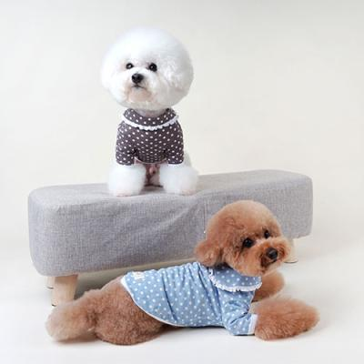 강아지티셔츠 땡땡이잠옷