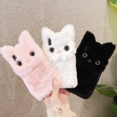 갤럭시S10 5G S10플러스 고양이 캐릭터 겨울 털케이스