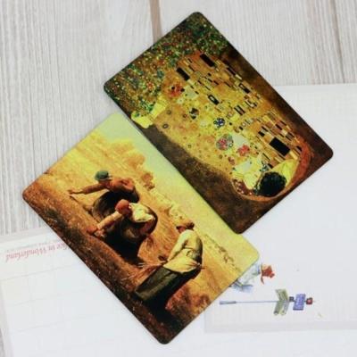 휴대용 미니손거울 카드미러 명화 디자인랜덤