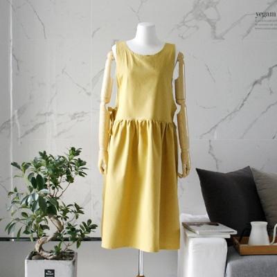 [2HOT] 보보 드레스 앞치마 (머스타드)