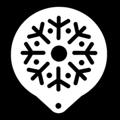 스텐스텐실-눈꽃송이