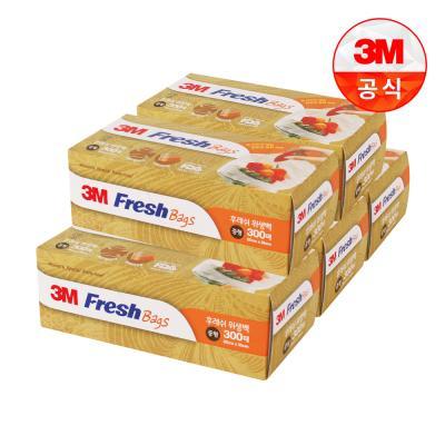 [3M]후레쉬 위생백 중형 300매 5개세트 (총 1500매)