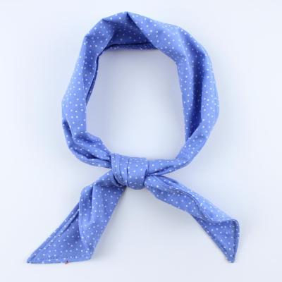 도트 블루 반다나 스카프 N592