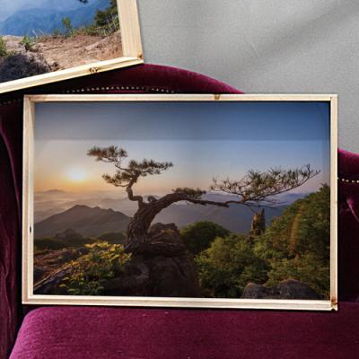 tf859-우드프레임액자_아름다운절경과소나무