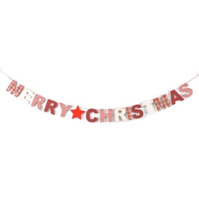 나무재질 MERRY CHRISTMAS 크리스마스 가랜드 1.45m