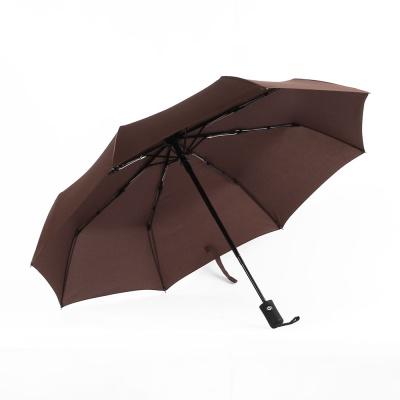 3단 튼튼한우산(브라운)/ 완전자동 방풍우산