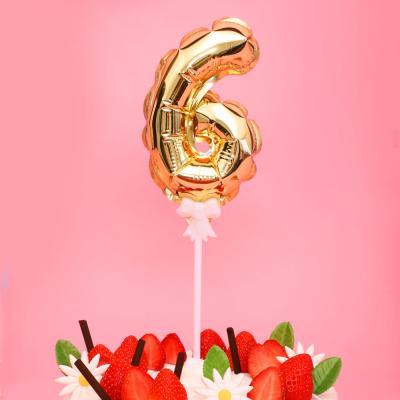 생일 케이크 풍선 데코픽 (골드) 6