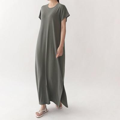 Modal Slit Long Dress