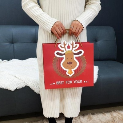 루돌프 쇼핑백 대 선물가방 기프트 휴대용