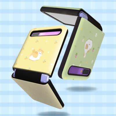 고양이 냥 패턴 더블가드 갤럭시 제트플립 5G 케이스