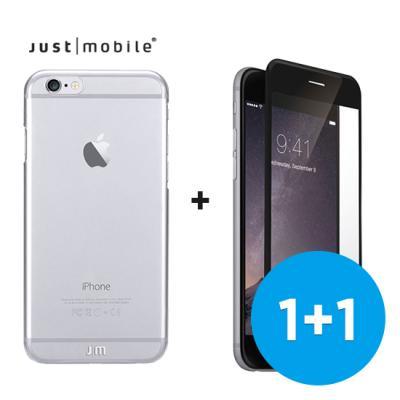 [저스트모바일] 자체복원 아이폰6S/아이폰6S플러스 크리스탈 케이스 + 자체복원 액정보호필름