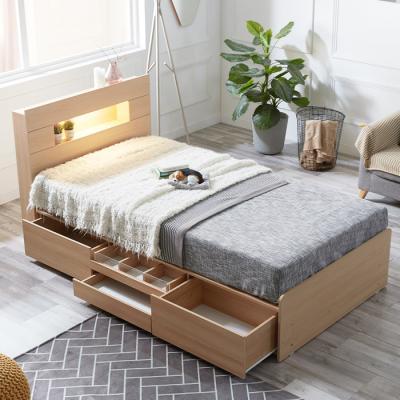 [노하우] 페퍼 LED 헤드수납 서랍형 침대 SS