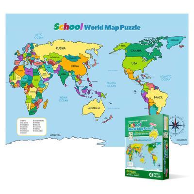 89피스 직소퍼즐 - 세계 지도 (플로어)(실루엣)