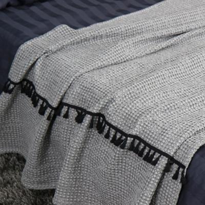 모달와플 투라인 태슬 베드러너 (블랭킷) - 3color