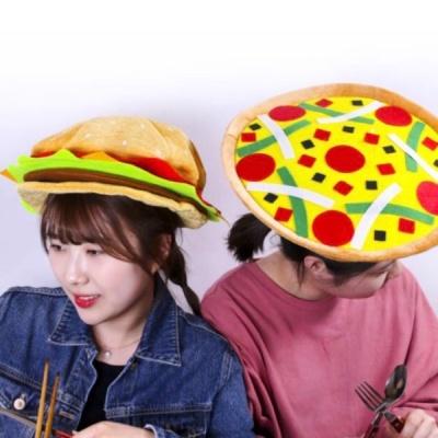 햄버거/ 피자 음식 모자 옵션선택