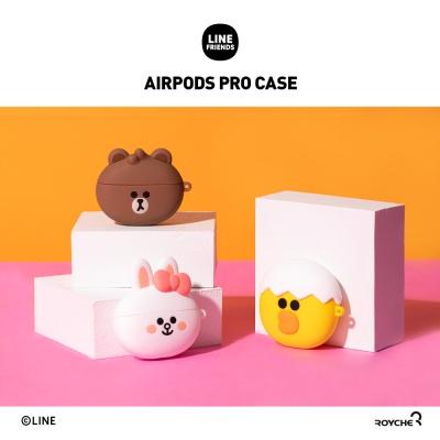 라인프렌즈 에어팟프로 AirPodsPro 케이스 페이스타입
