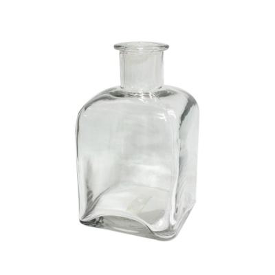 사각 투명 화병 디자인 유리병 인테리어 장식 소품