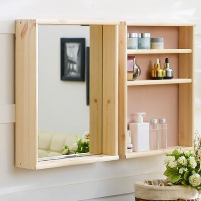 원목 선반형 화장대 거울(소형/대형)