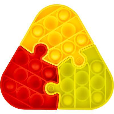 3조각 푸쉬 팝 퍼즐 - 삼각