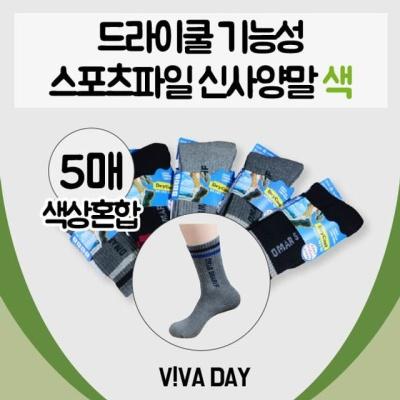 VIVADAY-CS06 스포츠파일신사 26cm-5켤레(색상혼합)