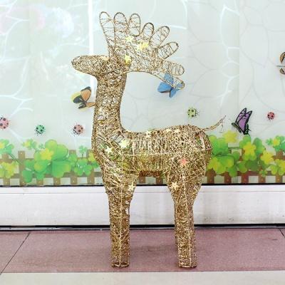 70cm 크리스마스 골드 반짝이 사슴 장식(중)