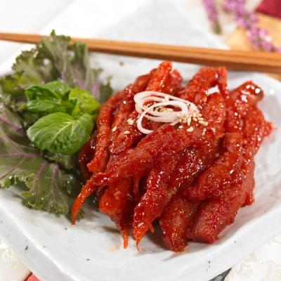 [진정한밥도둑] 아삭하고 향긋한 횡성더덕 무침 300g