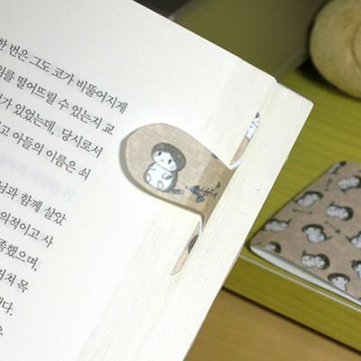 [플라스틱&자석 자동책갈피수지인] 봉고(베이지)