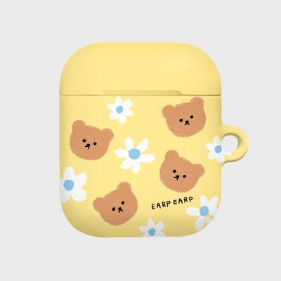 Dot flower bear-yellow(Hard air pods)