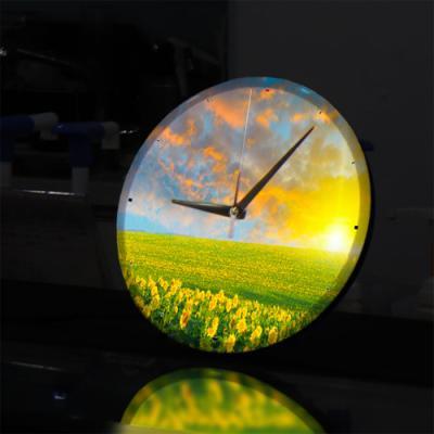 ng243-LED시계액자25R_석양에물든해바라기