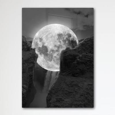 ir175-폼아크릴액자56CmX78Cm_절벽사이보름달