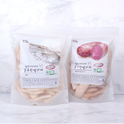 질마재농장 떡 쌀과자 백미80g+백미자색고구마80g