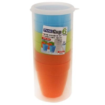밀폐 야외용 컵 6P