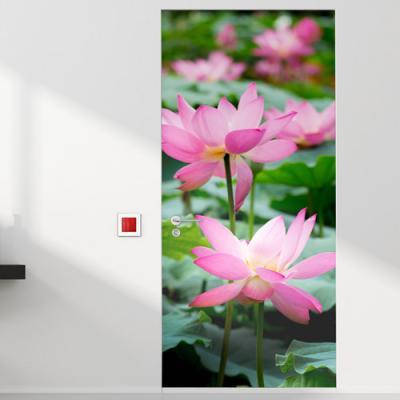 tm744-복이들어오는연꽃_현관문시트지