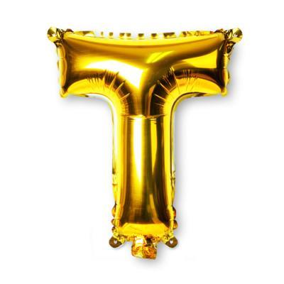 골드 알파벳 풍선-T (1개)