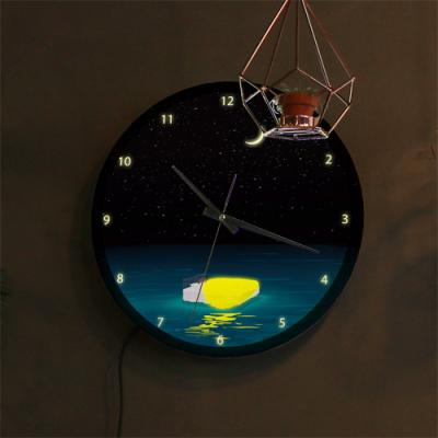 ng099-LED시계액자35R_별헤는밤