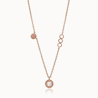 제이로렌 G0205 14K 장미석 원석 핑크골드 목걸이
