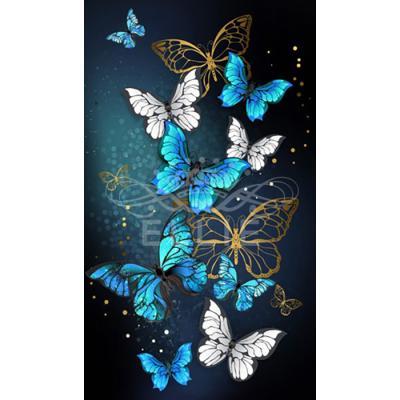 황금나비 에메랄드 (패브릭) 보석십자수 30x50