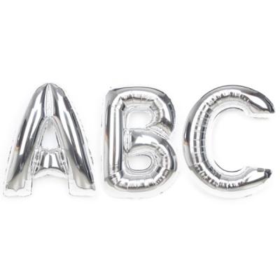알파벳 은박풍선 (중) 실버
