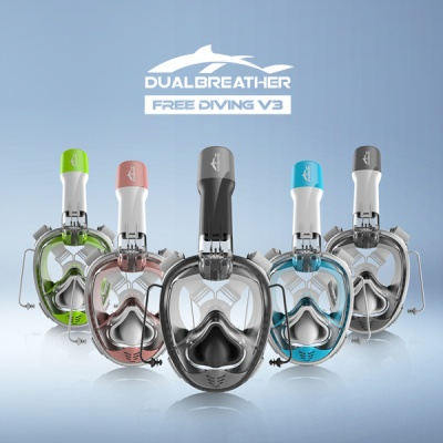 [듀얼브레서] 프리다이빙 V3 스노쿨링 마스크