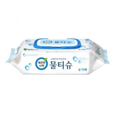 물티슈 캡형 깨끗한나라 / 70매x6개 / 6팩