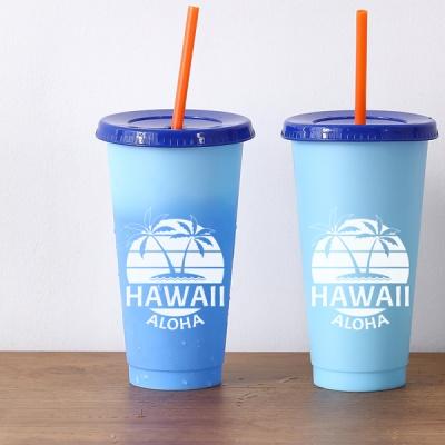하와이 리유저블 체인지UP 텀블러 700ml [블루]